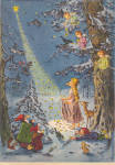 Click here to enlarge image and see more about item 35-33slk2015: 25 day Christmas Calendar from West Germany Vintage