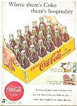 1948  5 CENT BOTTLES OF COCA COLA AD SHEET