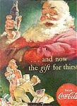 1952 SANTA CLAUSE AND COCA-COLA AD SHEET