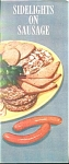 Click here to enlarge image and see more about item 39-62: ECKRICH - SIDELIGHTS ON SAUSAGE BOOKLET