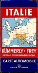 ITALIE KUMMERLY + FREY CARTE AUTOMOBILE