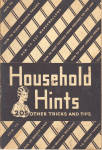Click here to enlarge image and see more about item hintsslk: Household Hints by Aristos Flour mid 1930s