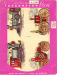 Click here to enlarge image and see more about item meyertrain: Unused Meyercord decals of trains or steam engines