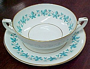 Royal Worcester Bala Cream Soup Bowl & Saucer