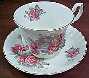Royal Albert  Centennial Rose  Cup & Saucer (Image1)