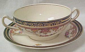 Alfred Meakin Athol Cream Soup Bowl & Saucer