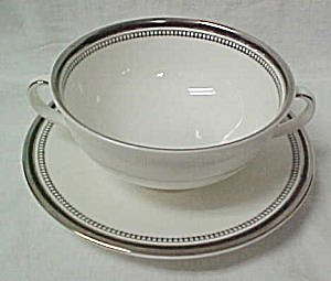 Royal Doulton Sarabande Cream Soup Bowl & Saucer