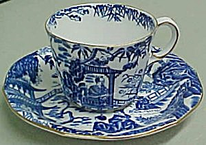 Royal Crown Derby Blue Mikado Cup & Saucer