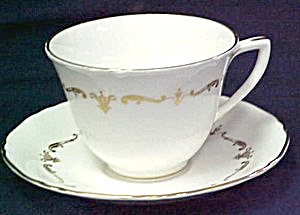 Royal Worcester Gold Chantilly Cup & Saucer