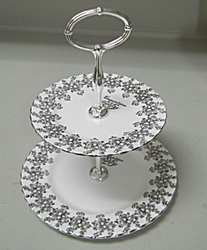 Royal Albert 25th Anniversary Two Tier Cake Stand