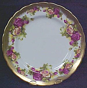 Royal Chelsea Golden Rose 3983A Salad Plate (Image1)