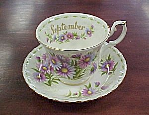 Royal Albert September Song Cup & Saucer