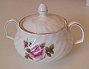 Northumbria Carleton Rose Sugar Bowl With Lid
