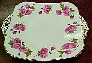 Foley Century Rose 2400 Cake Plate