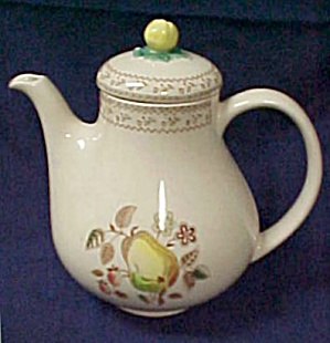 Johnson Brothers Fruit Sampler Coffee Pot With Lid