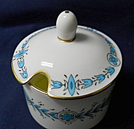 Coalport Geneva Green Jam Pot With Lid