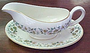 Myott Redoute Gravy Boat With Underplate