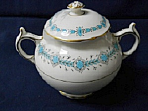 Coalport  Geneva Teal  Covered Sugar Bowl (Image1)