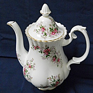Royal Albert Lavender Rose Coffee Pot With Lid