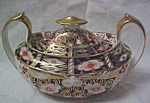 Royal Crown Derby Traditional Imari Sugar Bowl & Lid