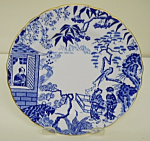Royal Crown Derby Blue Mikado Tea Plate