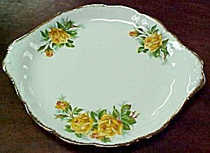 Royal Albert Yellow Tea Rose Cake Plate