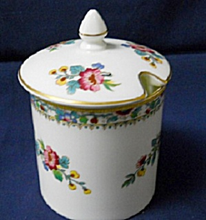 Coalport Ming Rose Jam Pot With Lid