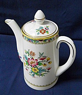 Coalport Ming Rose 2 Cup Coffee Pot With Lid