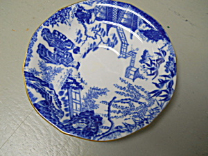 Royal Crown Derby Blue Mikado Saucer