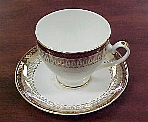 Royal Grafton Majestic (Maroon) Cup & Saucer