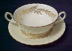 Minton Golden Symphony Cream Soup & Saucer