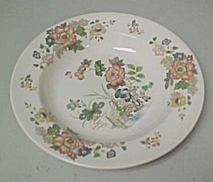 Wedgwood Eastern Flowers Rimmed Soup Bowl
