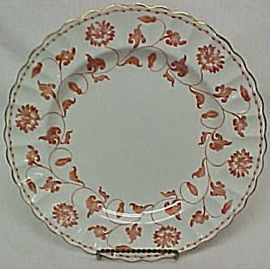 Spode Colonel Red Dinner Plate
