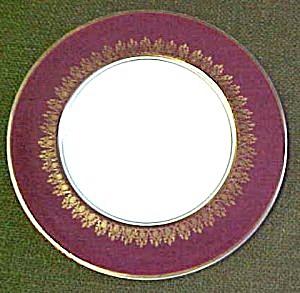 Myott Elizabeth II Crowning  (Maroon) Salad Plate (Image1)