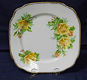 Royal Albert Yellow Tea Rose Square Salad Plate