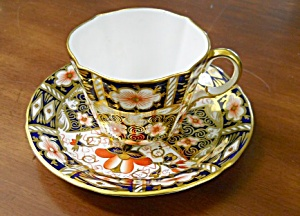 Royal Crown Derby Traditional Imari 2451 Cup & Saucer