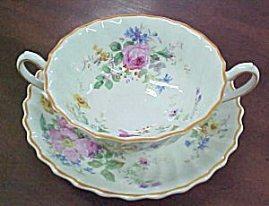 Royal Doulton Arcadia Cream Soup & Saucer Set (Image1)