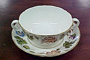 Royal Worcester Virginia Cream Soup Cup & Saucer