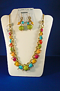 Ethel & Myrtle Multi Colored Bead Necklace (Image1)