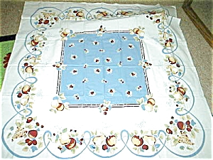 Vintage Pattern Apple Cherry Tablecloth