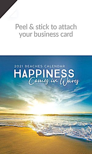 2019 Beaches Magnetic Business Card Calendar