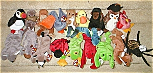 Retired Set Of 19 Beanie Babies