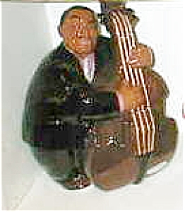 Black Americana cookie jar Bass Player (Image1)