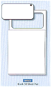 100 Blank Business Card Magnetic Note Pads