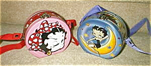 Set of 2 Betty Boop round tin purses (Image1)