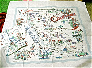 Vintage Pattern California 52 X 52 Tablecloth