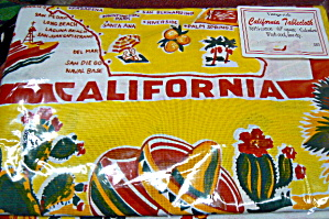 Vintage Pattern Yellow California Tablecloth
