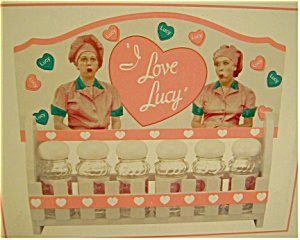 I Love Lucy Wooden And Glass Spice Set