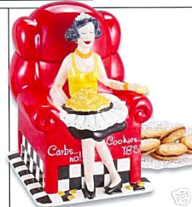 Carbs NO, Cookies Yes Red Chair Cookie Jar (Image1)