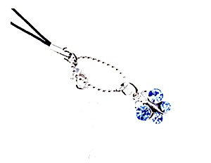 Colored Butterfly Cell Phone Charm